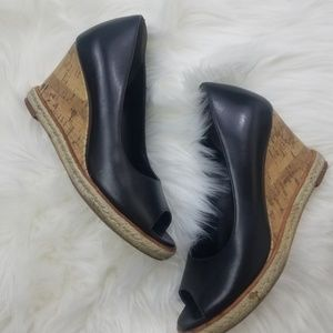 Cole Haan Black Wedges Size 5.5